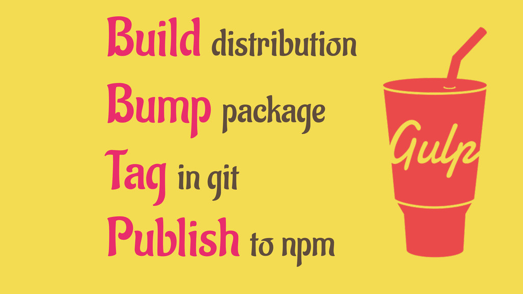 Build distribution Bump package Tag in git Publ...