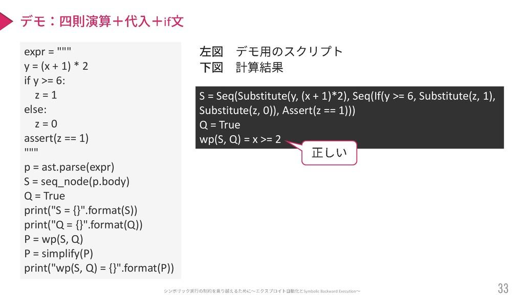 """Symbolic Backward Execution if expr = """""""""""" y = (..."""