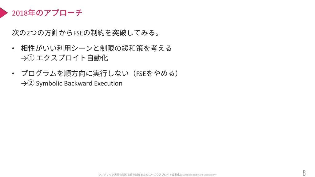 Symbolic Backward Execution 2 FSE • → • FSE → S...