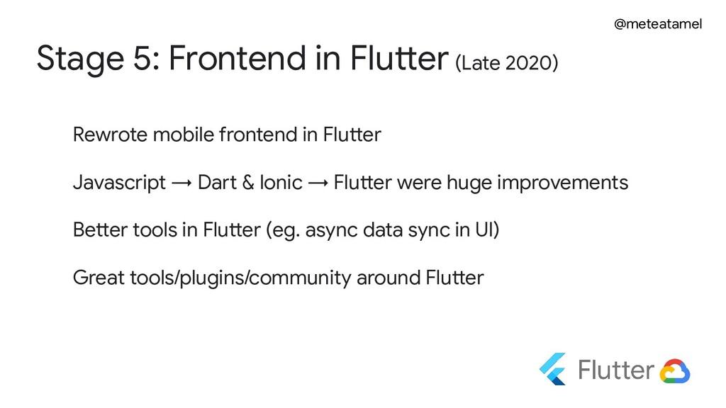 @meteatamel Stage 5: Frontend in Flutter (Late ...
