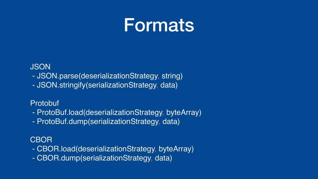 Formats JSON - JSON.parse(deserializationStrate...