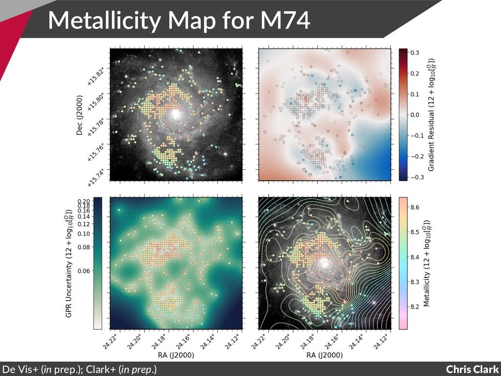 Metallicity Map for M74 Chris Clark De Vis+ (in...