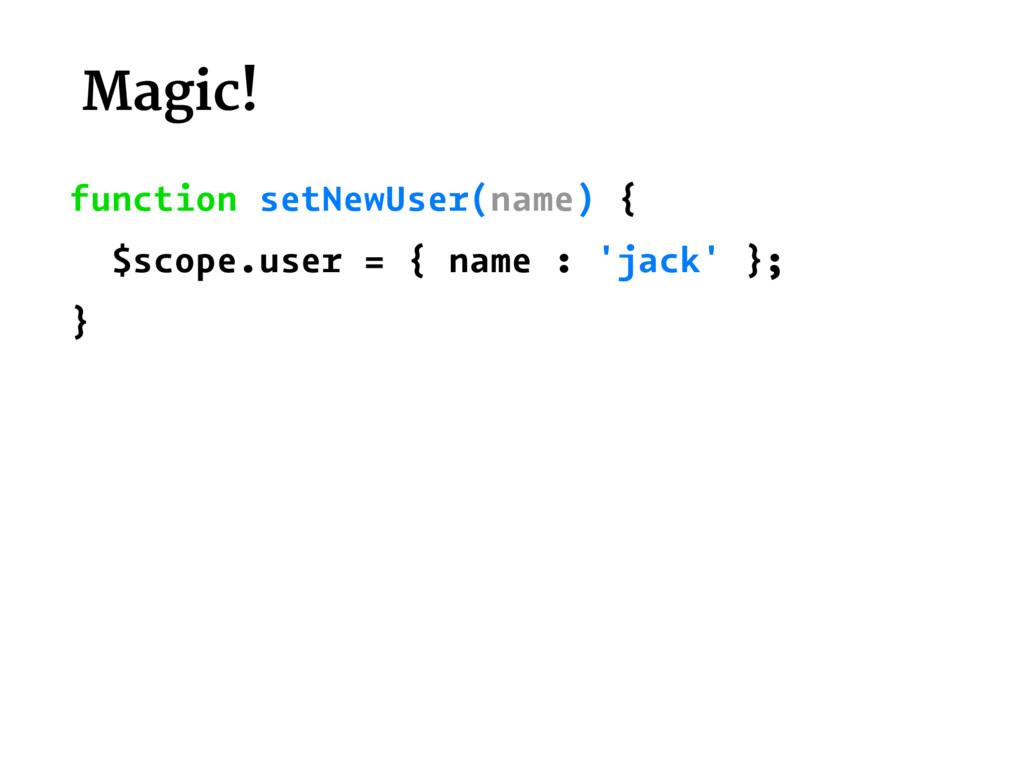 Magic! function setNewUser(name) { $scope.user ...
