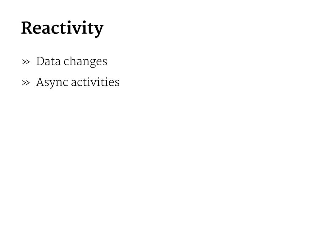 Reactivity » Data changes » Async activities