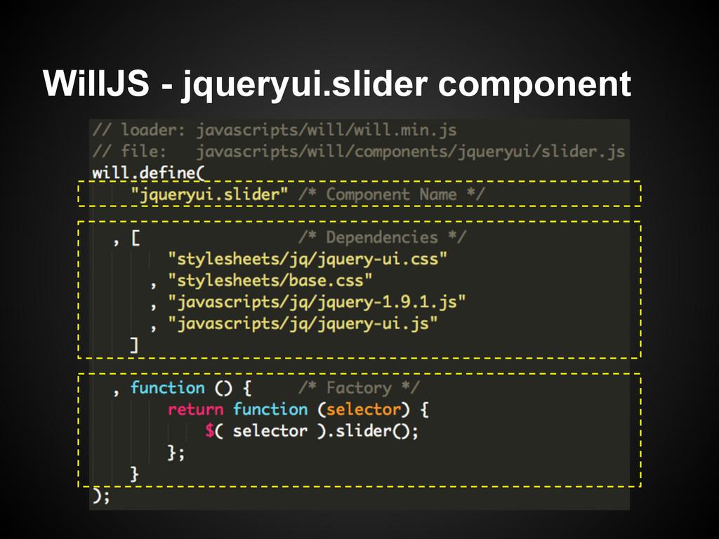 WillJS - jqueryui.slider component