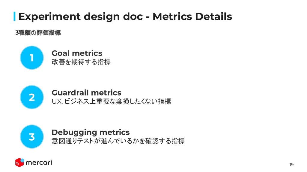 19 Confidential Experiment design doc - Metrics ...