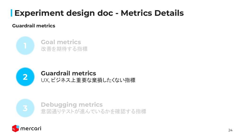 24 Confidential Experiment design doc - Metrics ...