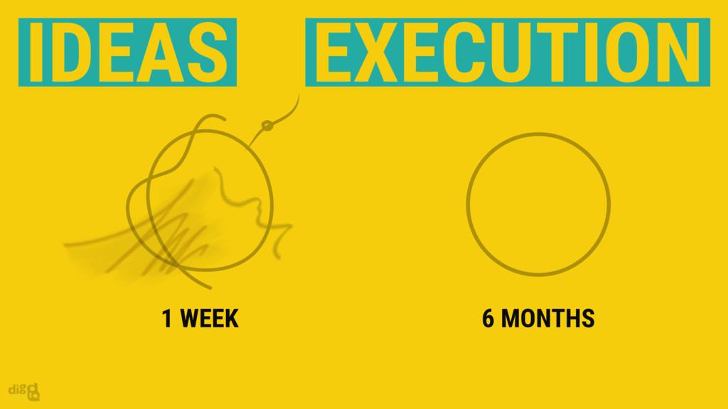 6 MONTHS 1 WEEK IDEAS EXECUTION