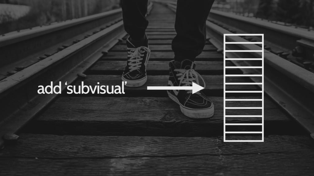 add 'subvisual'