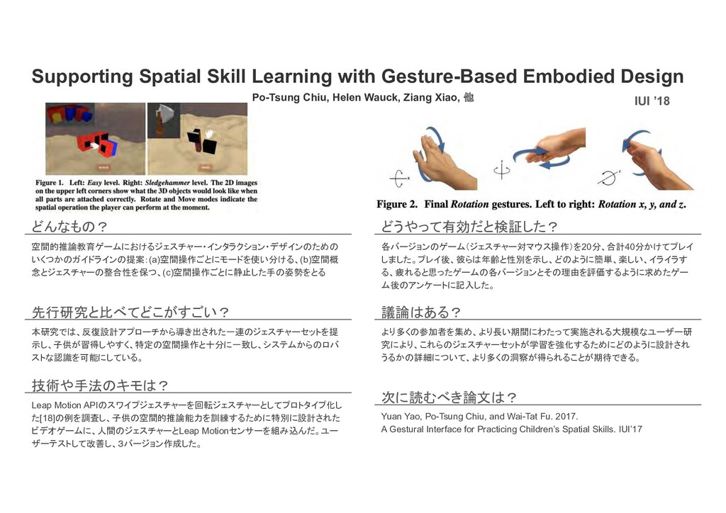 Supporting Spatial Skill Learning with Gesture-...