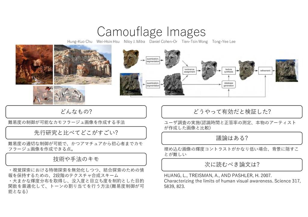 Camouflage Images Hung-Kuo Chu Wei-Hsin Hsu Nil...