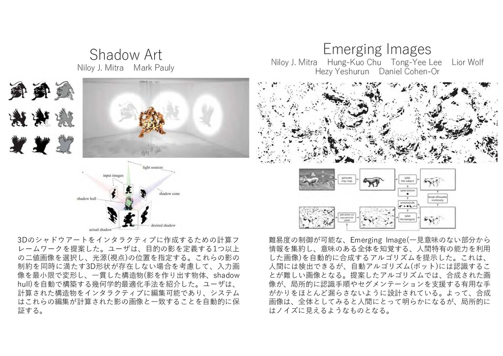 Shadow Art Niloy J. Mitra Mark Pauly 3D シ アートをイ...