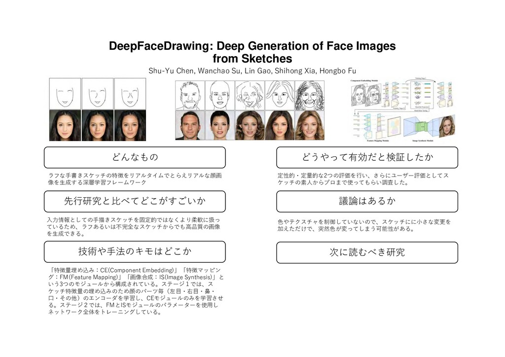 DeepFaceDrawing: Deep Generation of Face Images...