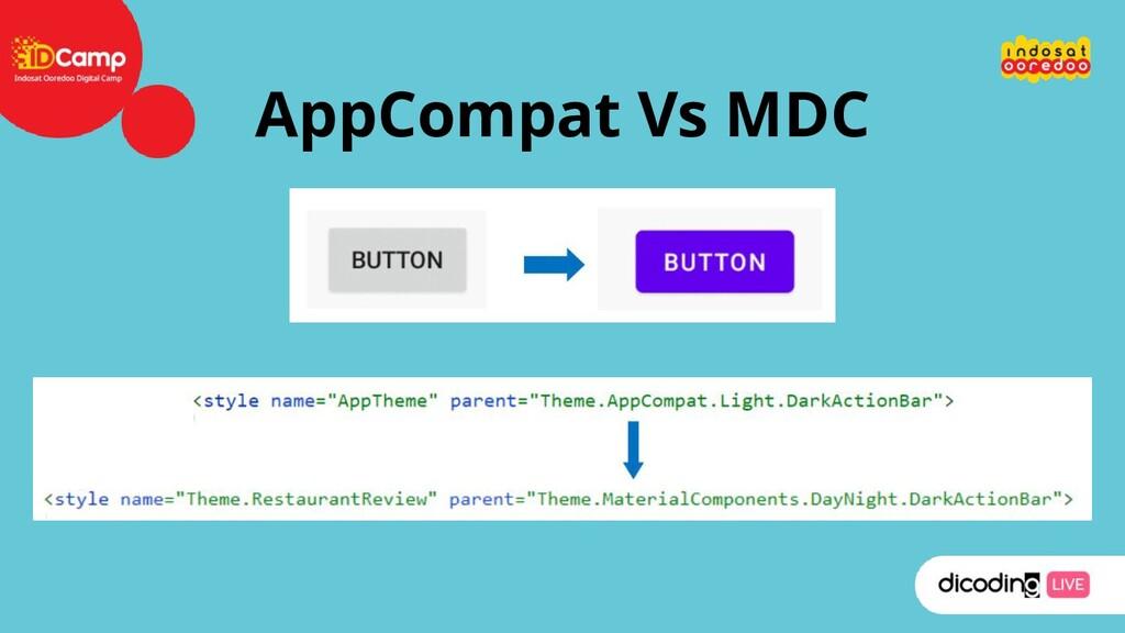 AppCompat Vs MDC