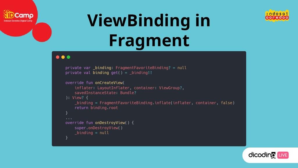 ViewBinding in Fragment