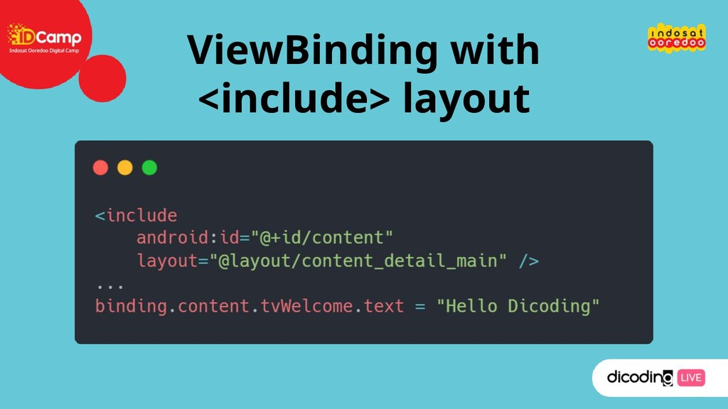 ViewBinding with <include> layout