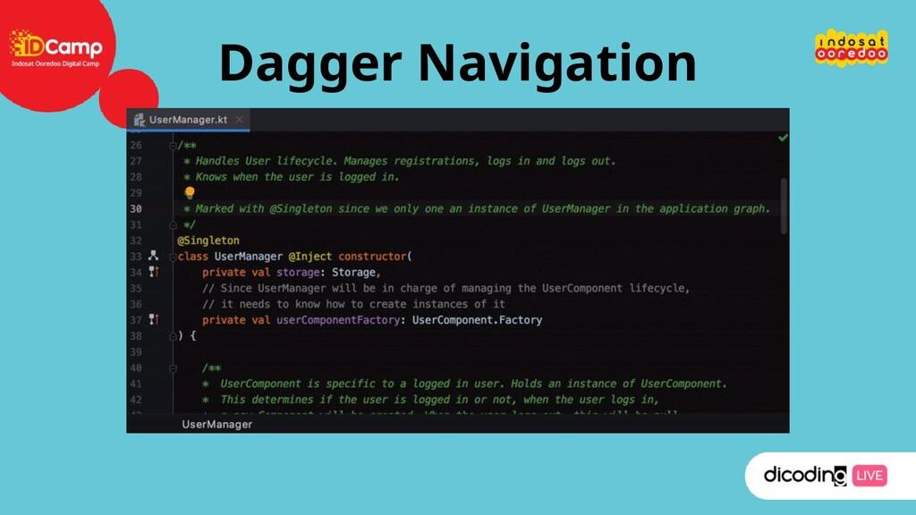 Dagger Navigation