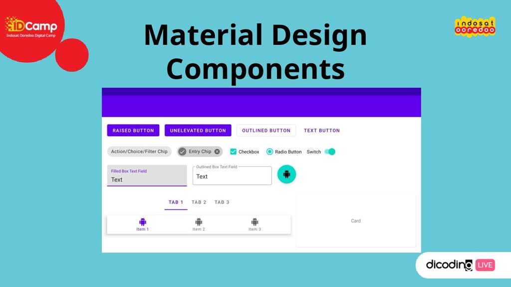 Material Design Components
