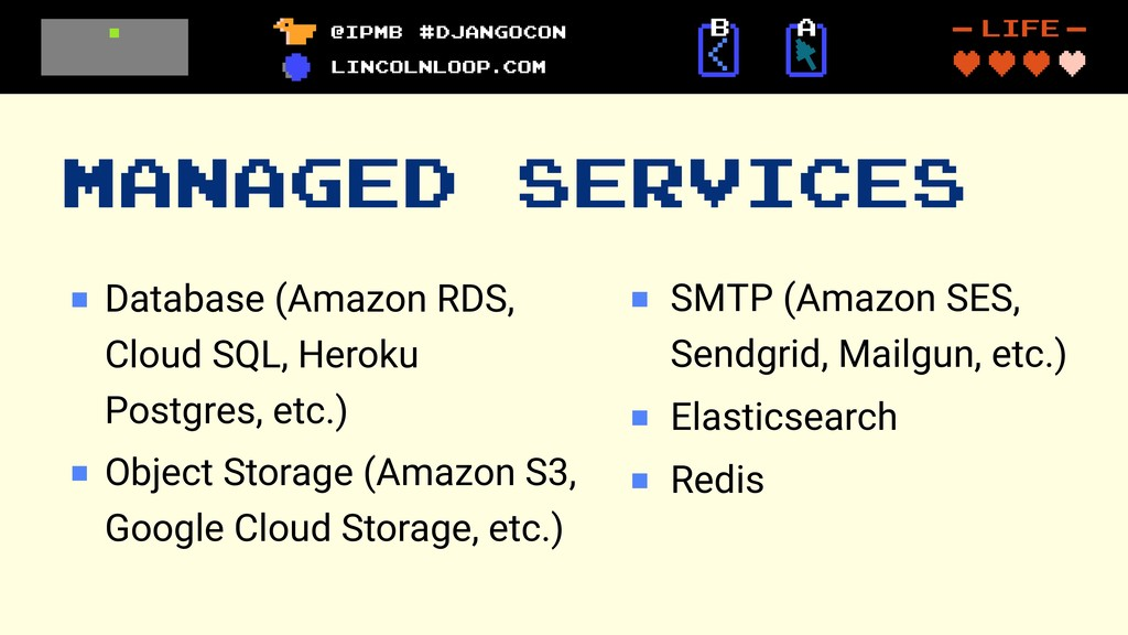 MANAGED SERVICES Database (Amazon RDS, Cloud SQ...