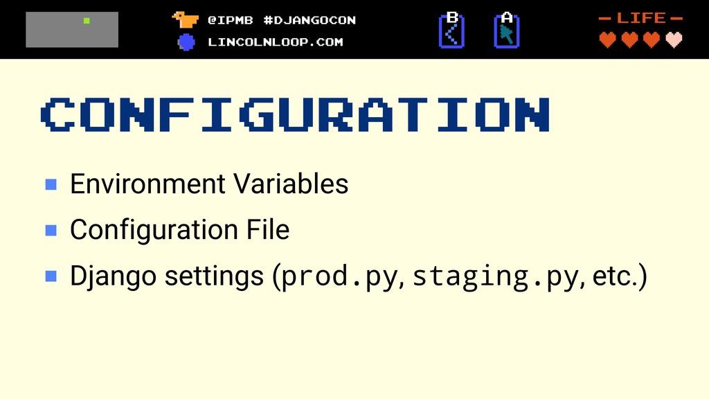 CONFIGURATION Environment Variables Configurati...