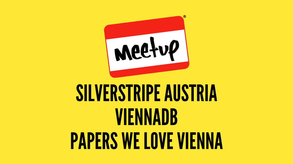 SILVERSTRIPE AUSTRIA VIENNADB PAPERS WE LOVE VI...