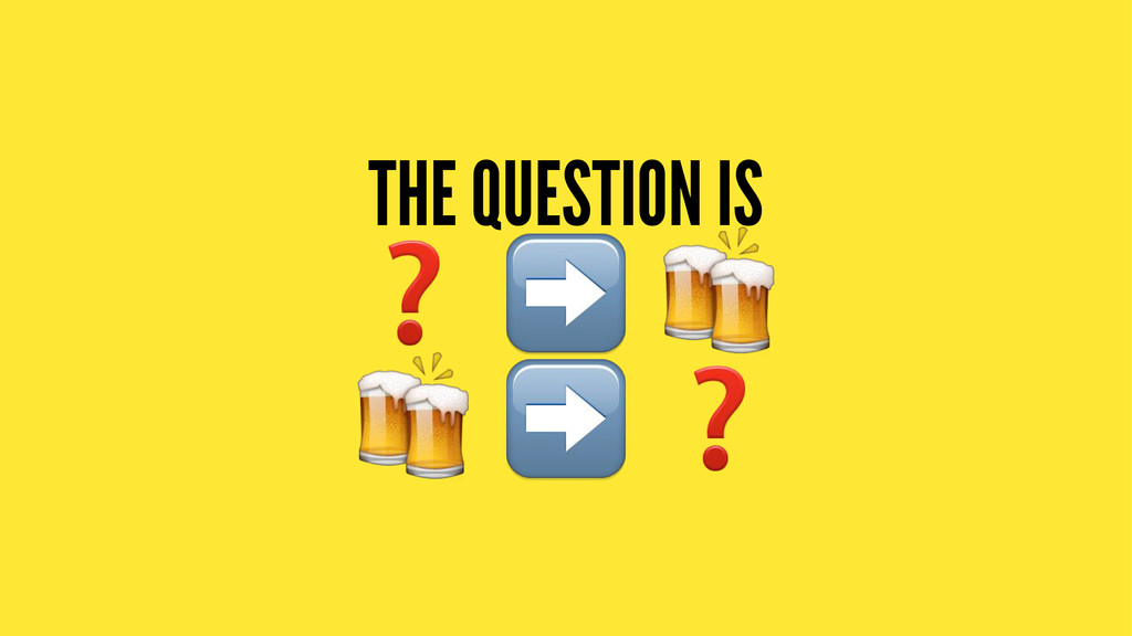 THE QUESTION IS ❓ ➡ # ! ➡ ❓