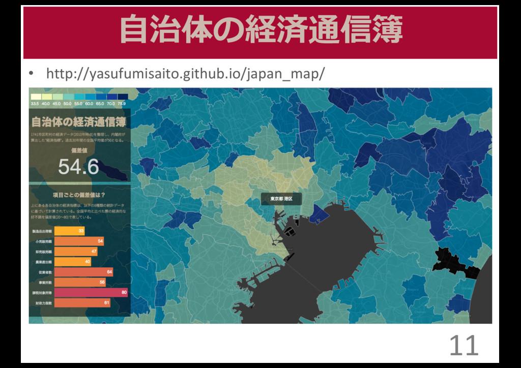 ⾃自治体の経済通信簿 • http://yasufumisaito.github.io/jap...