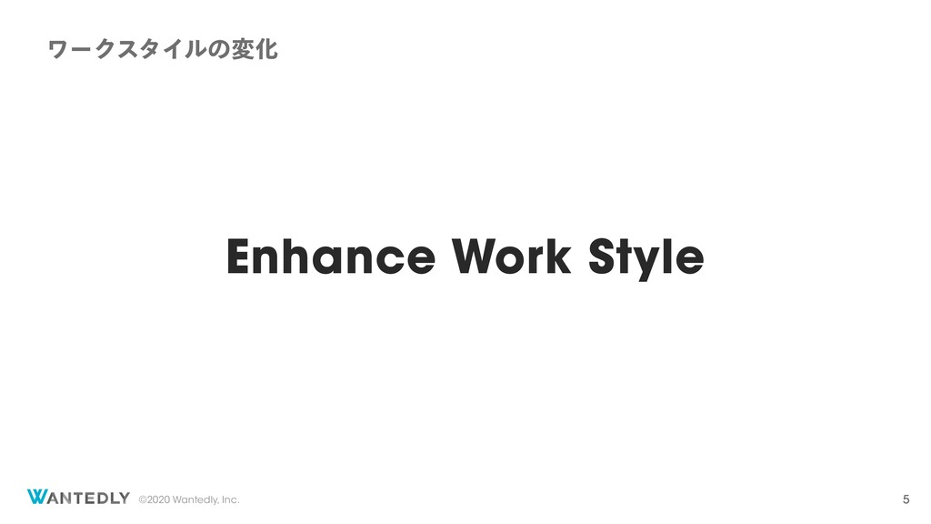 ©2020 Wantedly, Inc. Enhance Work Style ϫʔΫελΠϧ...