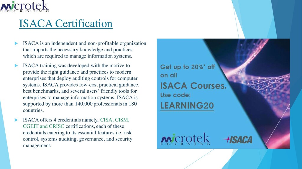 ISACA Certification  ISACA is an independent a...