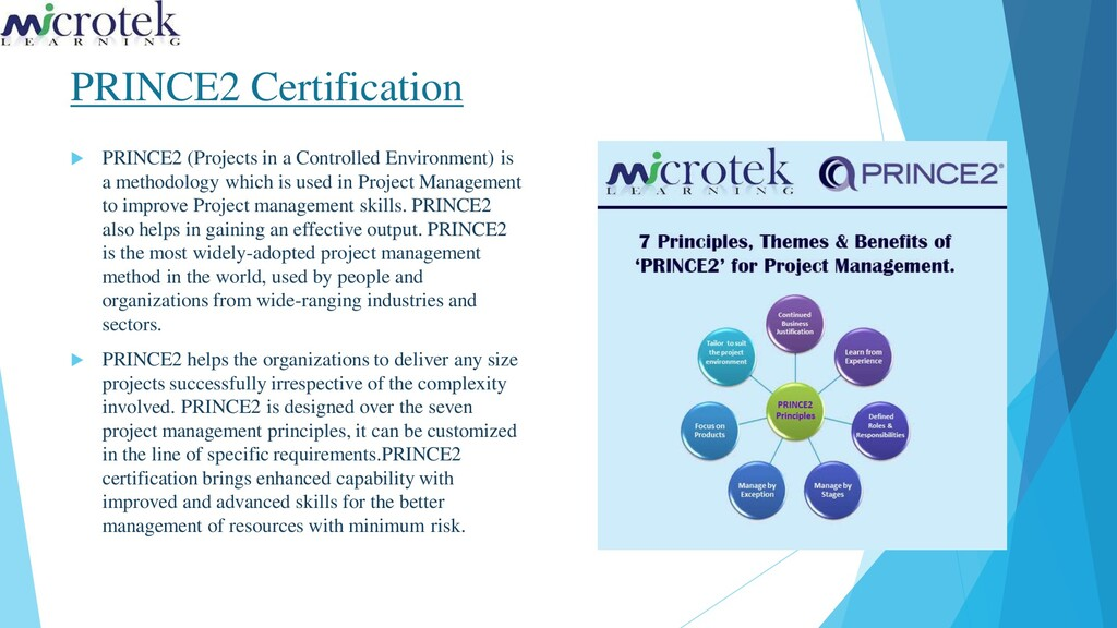PRINCE2 Certification  PRINCE2 (Projects in a ...