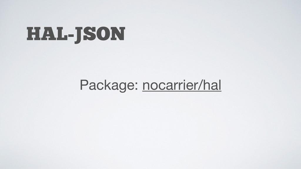 HAL-JSON Package: nocarrier/hal