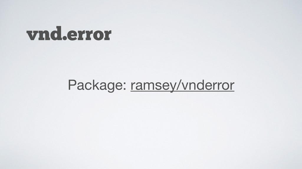 vnd.error Package: ramsey/vnderror