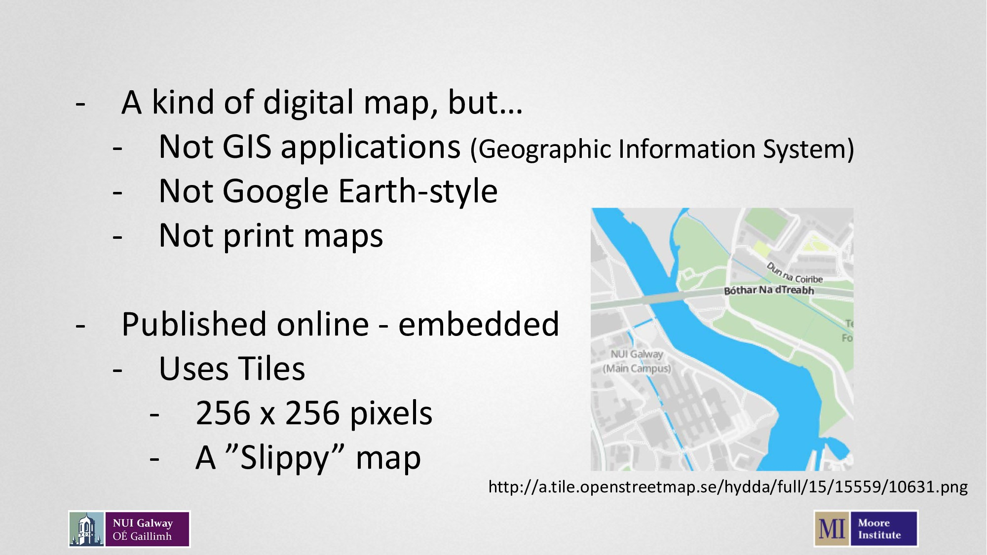 - A kind of digital map, but… - Not GIS applica...