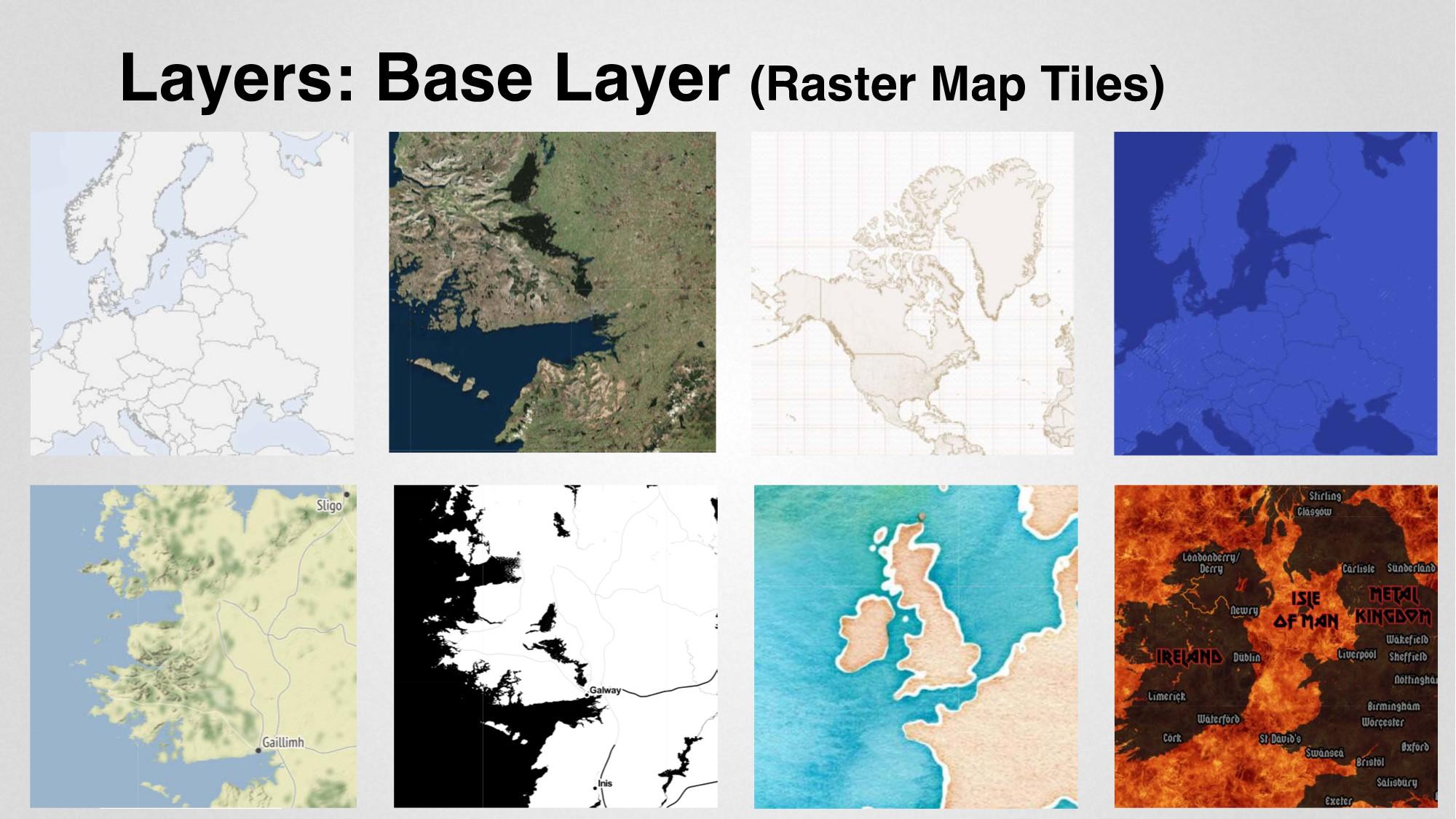 Layers: Base Layer (Raster Map Tiles)