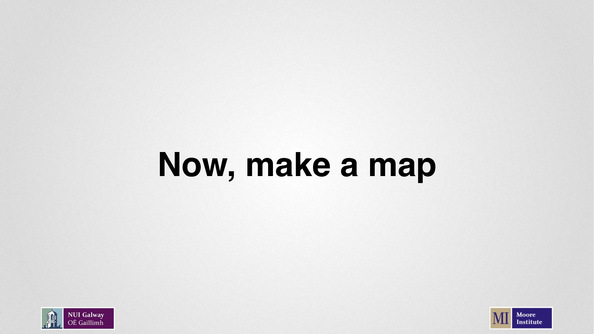 Now, make a map