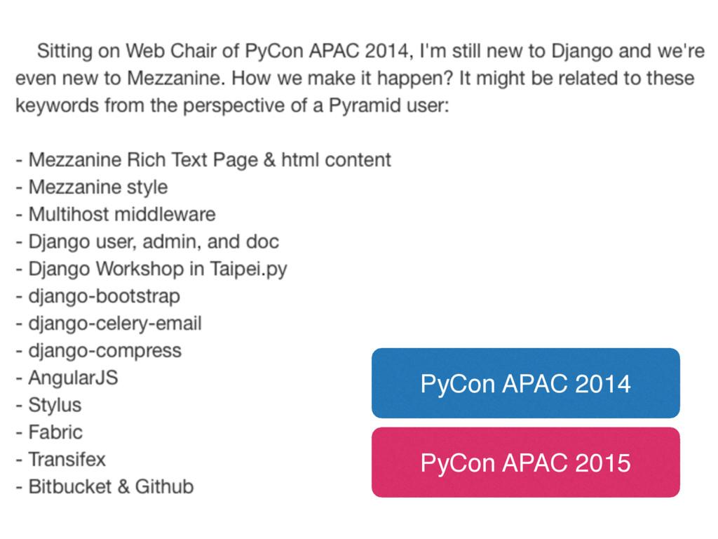 PyCon APAC 2014 PyCon APAC 2015