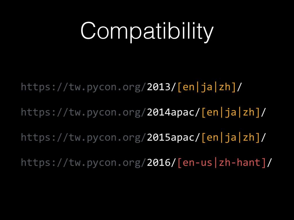 Compatibility https://tw.pycon.org/2013/[en ja ...