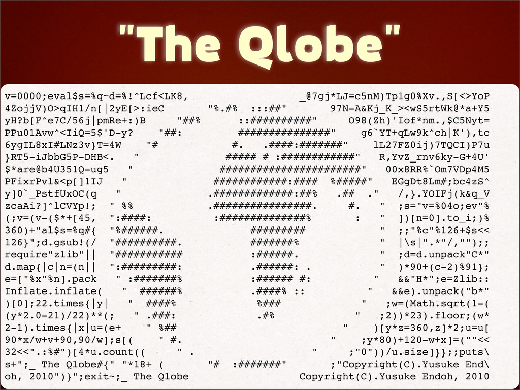 """The Qlobe"" v=0000;eval$s=%q~d=%!^Lcf<LK8, _@7g..."