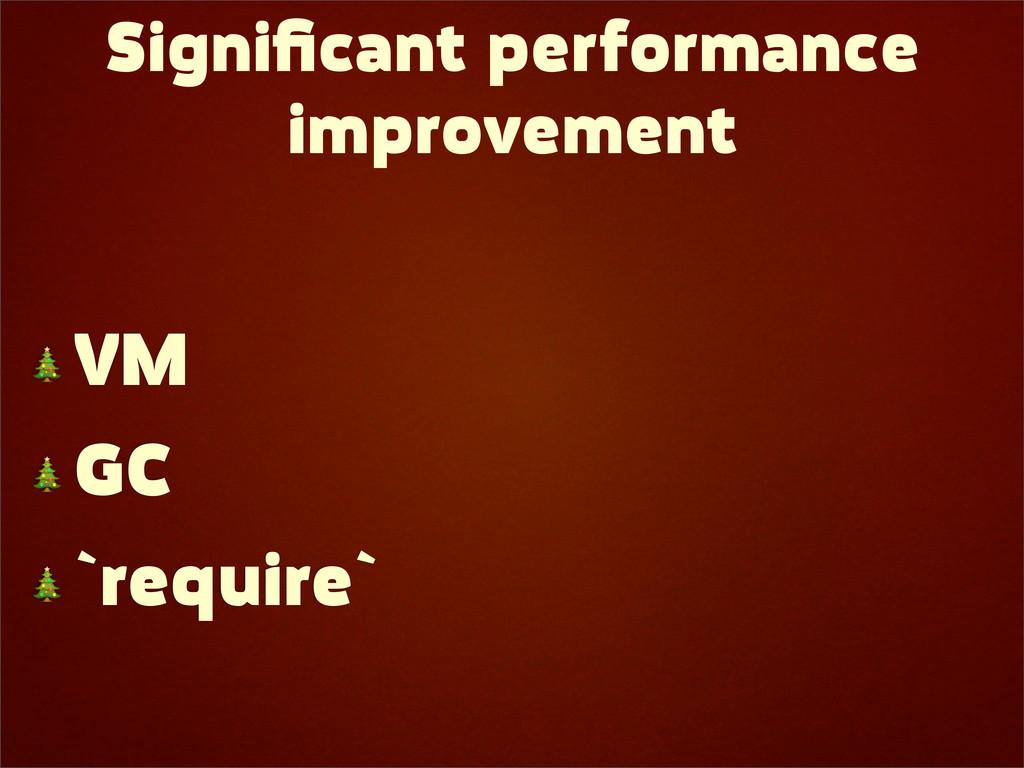 Significant performance improvement  VM  GC  `re...