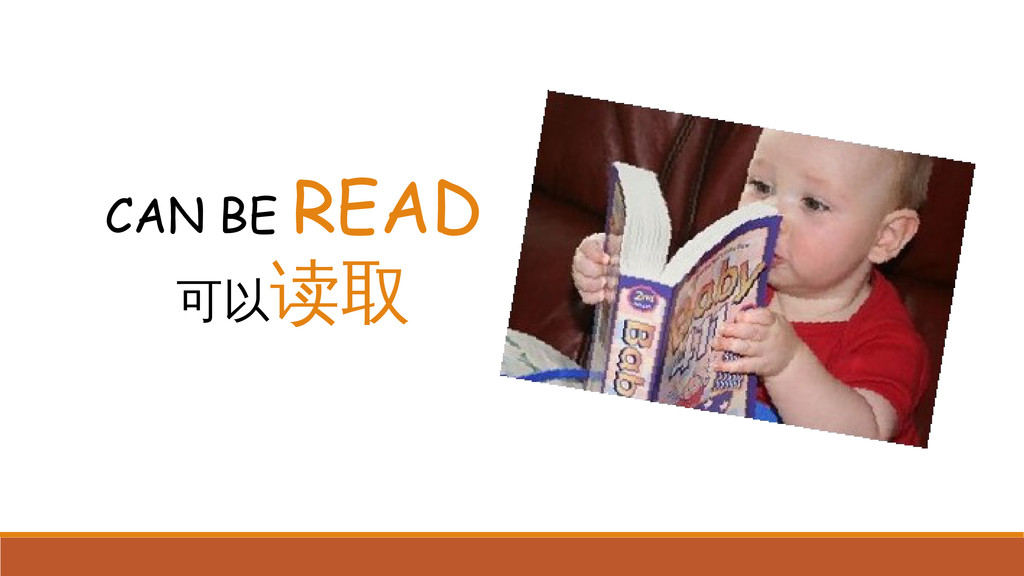 CAN BE READ 可以读取