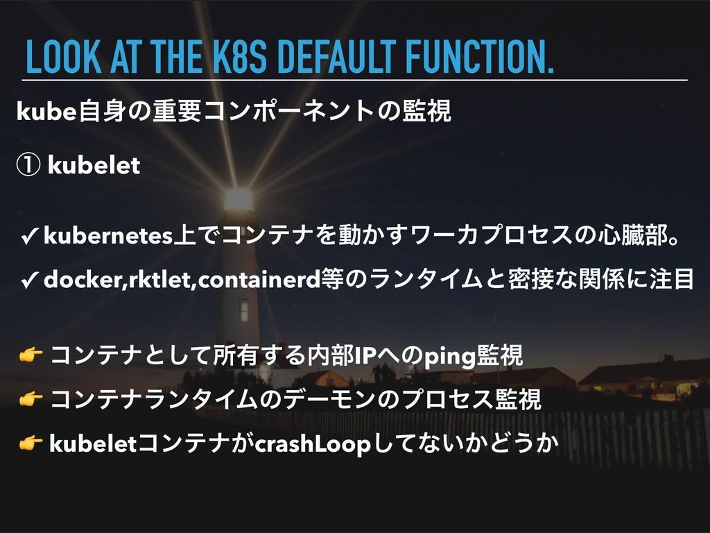 kubeࣗͷॏཁίϯϙʔωϯτͷࢹ ᶃ kubelet LOOK AT THE K8S D...