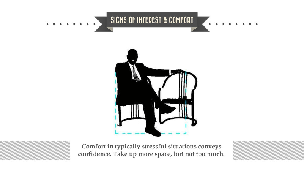 SIGNS OF INTEREST & COMFORT Comfort in typicall...