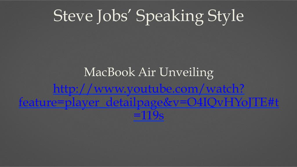 Steve Jobs' Speaking Style MacBook Air Unveilin...