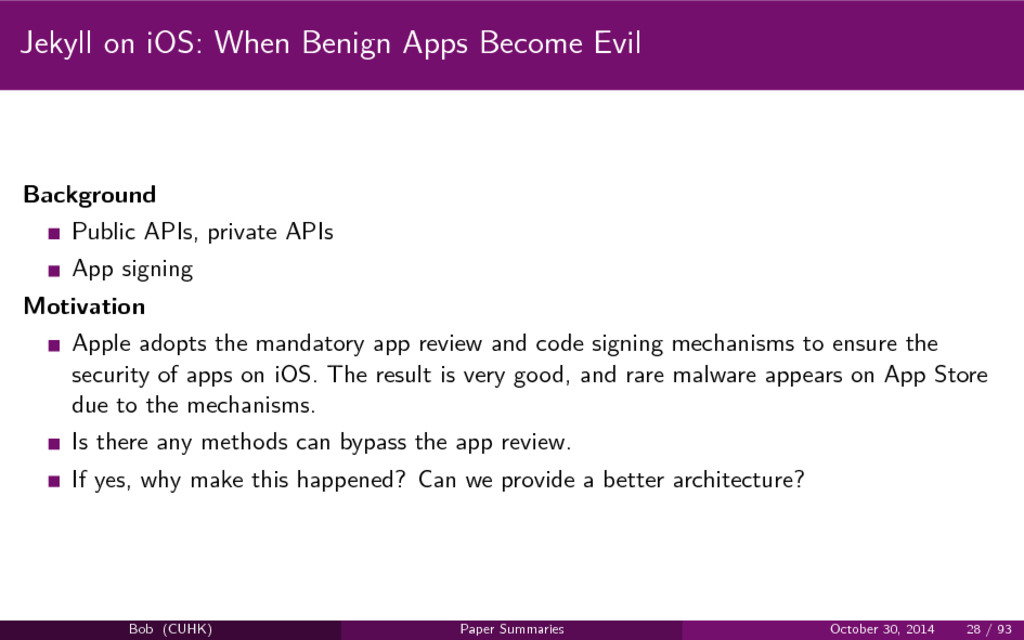 Jekyll on iOS: When Benign Apps Become Evil Bac...