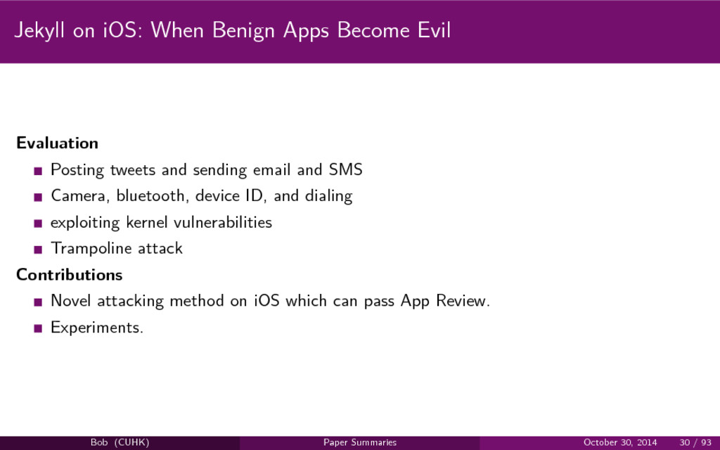 Jekyll on iOS: When Benign Apps Become Evil Eva...