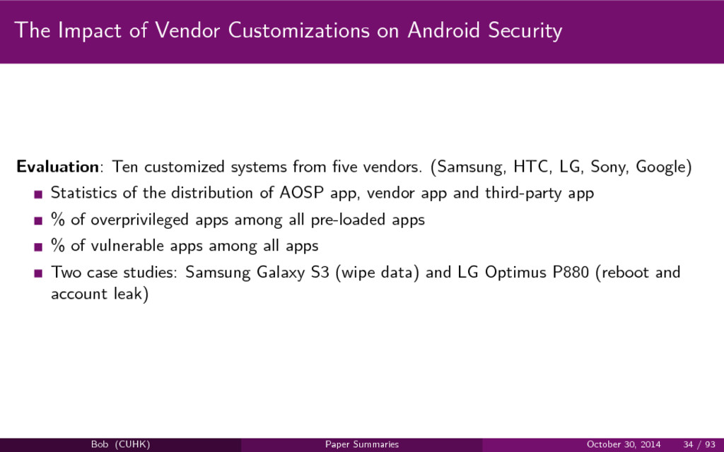 The Impact of Vendor Customizations on Android ...