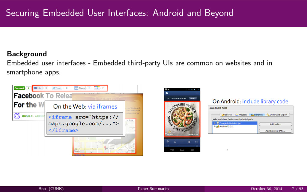 Securing Embedded User Interfaces: Android and ...