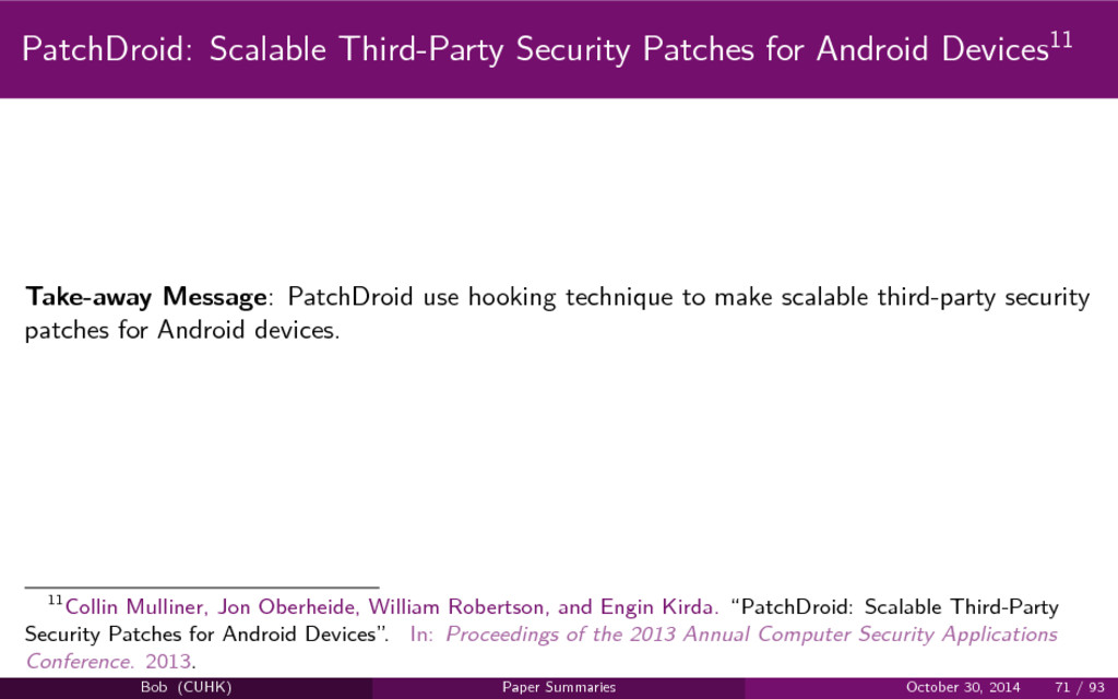 PatchDroid: Scalable Third-Party Security Patch...