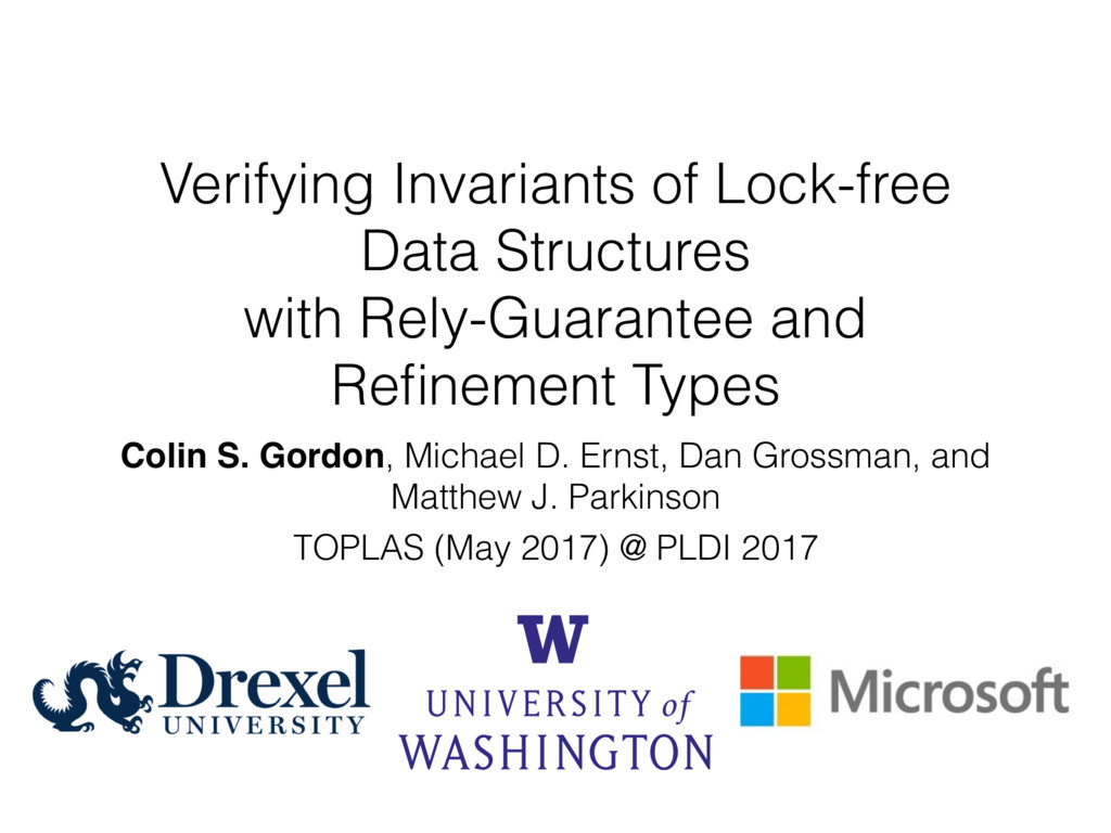 Verifying Invariants of Lock-free Data Structur...