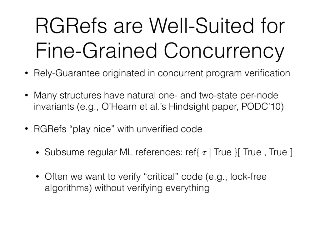 RGRefs are Well-Suited for Fine-Grained Concurr...